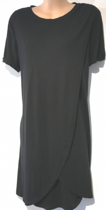 BLOOMING MARVELLOUS MATERNITY BLACK WRAP OVER NURSING T SHIRT TOP SIZE 12